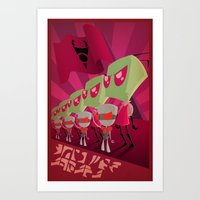 invader zim Art Prints featuring Join the Armada - Invader Zim by Laggy Creations