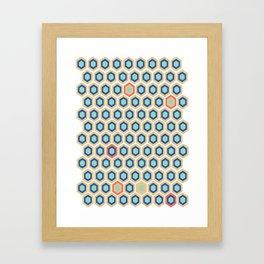 Digital Honeycomb Framed Art Print
