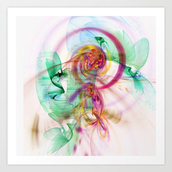 Fractal art Art Print