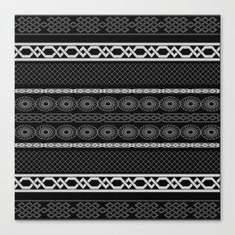 Infinity Pattern (black & white) Canvas Print