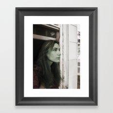 Selfie Portrait  Framed Art Print
