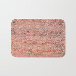 Plain Old Orange Red London Brick Wall Bath Mat