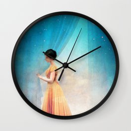 Night with a View Wall Clock
