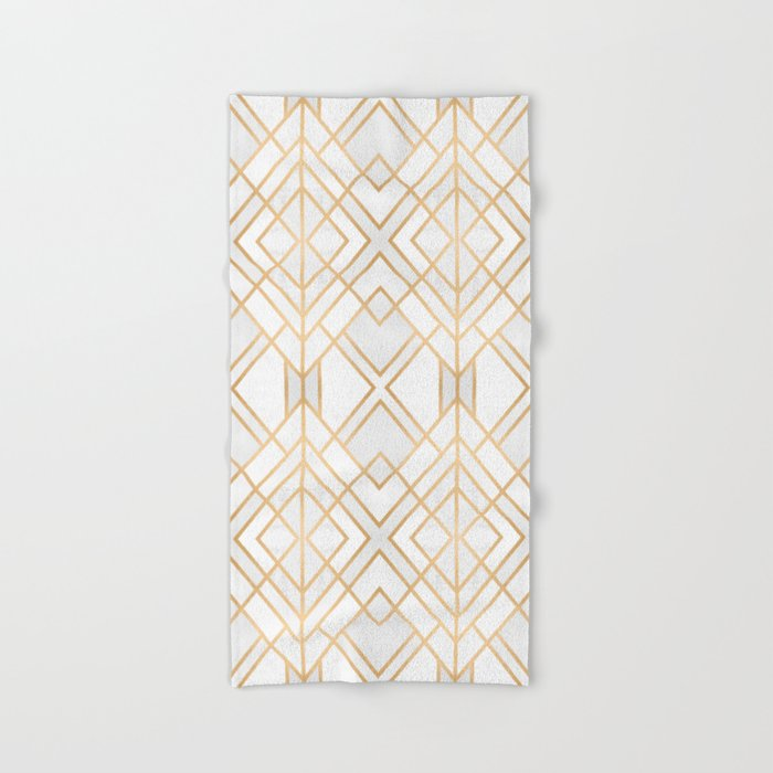 Golden Geo Hand & Bath Towel