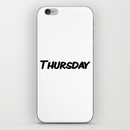 Thursday iPhone Skin
