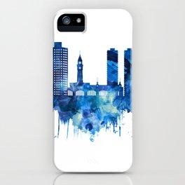 Hoboken New Jersey Skyline Blue iPhone Case