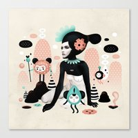 ruben ireland Canvas Prints featuring Kobana - Muxxi X Ruben Ireland by Muxxi