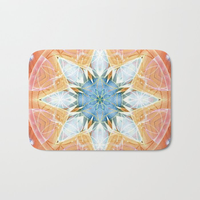 Flower of Life Mandalas 3 Bath Mat