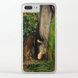 Ophelia from Hamlet Oil Painting by Sir John Everett Millais Clear iPhone Case