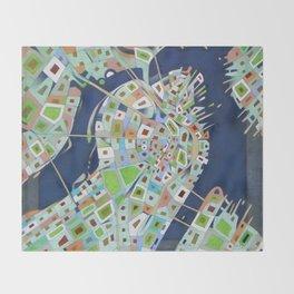 city map Throw Blanket