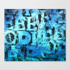 Blue words typographic art Canvas Print