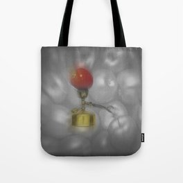 stove and apple. good old days. Tote Bag