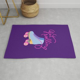 Get Rolling (Purple Background) Rug