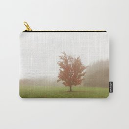 Maple Tree in Fog with Fall Colors Carry-All Pouch