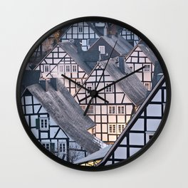 Historic half-timbered houses of Germany Wall Clock