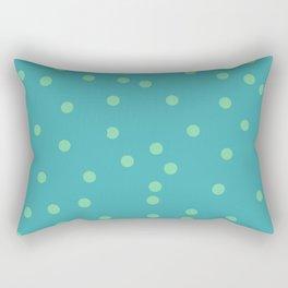Polka Sandwich - Cyans Rectangular Pillow