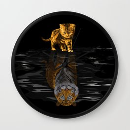 Cute Little Baby Hobbes tiger cat iPhone 4 4s 5 5s 5c, ipod, ipad, pillow case and tshirt Wall Clock