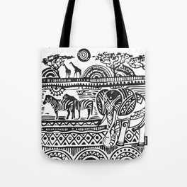 African Tribal Pattern No. 17 Tote Bag