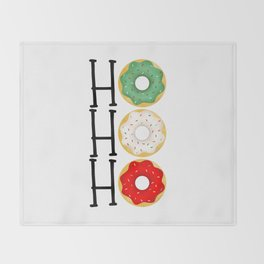 Ho Ho Ho - Holiday Donuts Throw Blanket
