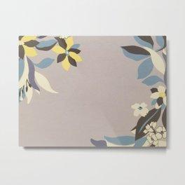 Lavender Border Flowers Metal Print