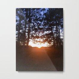 October Sunset Metal Print