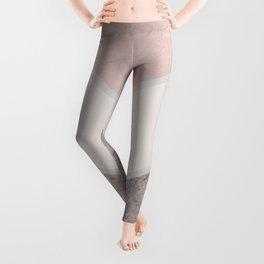DARK BLUSH GRAY CONCRETE CHEVRON Leggings