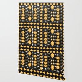 Ethnic winter pattern with little bears Wallpaper