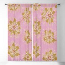 Mocha Petal Rose Blackout Curtain