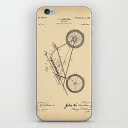 1898 Patent Bicycle Velocipede iPhone Skin