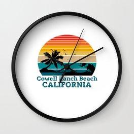 Cowell Ranch Beach CALIFORNIA Wall Clock