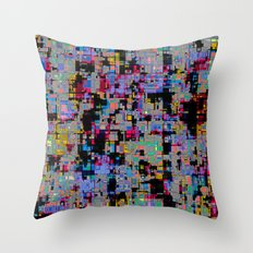 smack my glitch up Throw Pillow