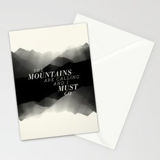 Mountains - BW Stationery Cards