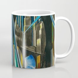 Brooklyn Bridge, New York City Skyline Art Deco landscape painting by Joseph Stella Coffee Mug