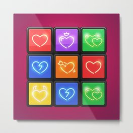 Rubik's Cube with Love Puzzle Metal Print