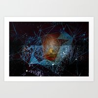 somewhere in space Art Print