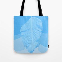 Tropical Banana Leave Pastel Blue Ombre Design Tote Bag
