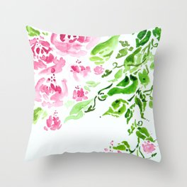 Blushing Beauties Throw Pillow