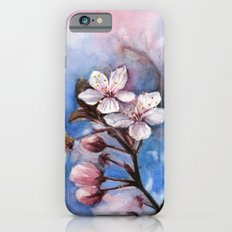 Cherry Blossoms Watercolor Spring Flowers Slim Case iPhone 6s