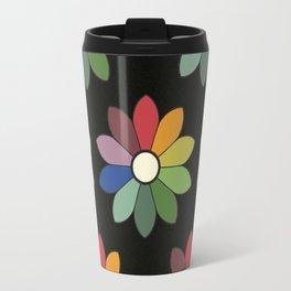 Flower pattern based on James Ward's Chromatic Circle (vintage wash) Travel Mug