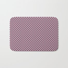 Ruby and White Polka Dots Bath Mat