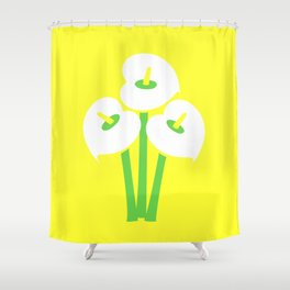 Calla Lily Bouquet (Yellow) Shower Curtain