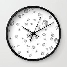 Strawberry Blossom Wall Clock