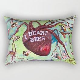 I Heart Bees Rectangular Pillow
