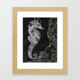 Midnight Sea-Horse Framed Art Print