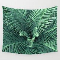 fern Wall Tapestries featuring Fern by ravynka