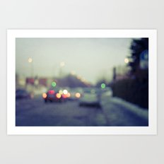 alone in the city Art Print