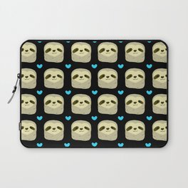 Blue Heart Sloth Laptop Sleeve