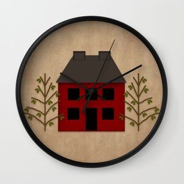 Primitive Country House Wall Clock