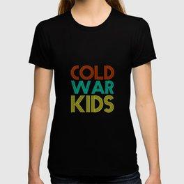 Cold War Kids Vintage 80s Neon Colors Veteran Patriotic Day Humor Gift Pun Cool Design T-shirt