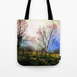 Illuminated Farmhouse and Trees Grasmere, Lake District, England Tote Bag